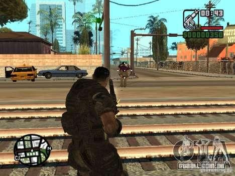 Dominic Santiago de Gears of War 2 para GTA San Andreas segunda tela