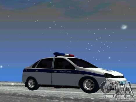 DPS VAZ 1118 para GTA San Andreas traseira esquerda vista