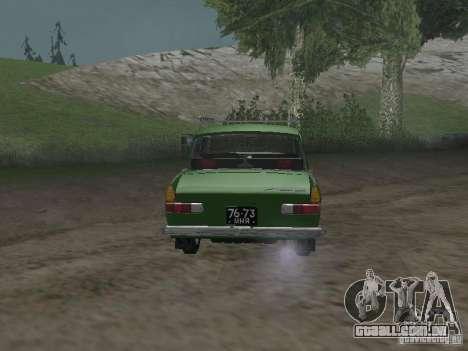 IZH 412 v 3.0 para GTA San Andreas vista direita