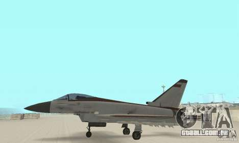 EF-2000 Typhoon V1.3 para GTA San Andreas vista interior