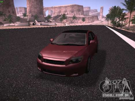 Scion tC para GTA San Andreas vista traseira
