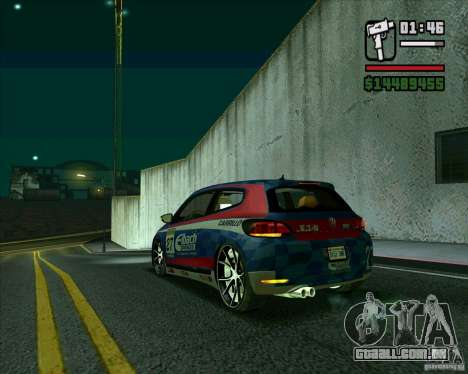 Volkswagen Scirocco 2008 para GTA San Andreas traseira esquerda vista