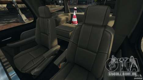 Chevrolet Tahoe LCPD SWAT para GTA 4 vista lateral