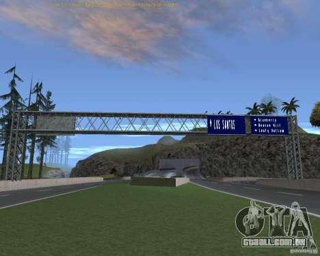 Estrada sinais v 1.1 para GTA San Andreas quinto tela