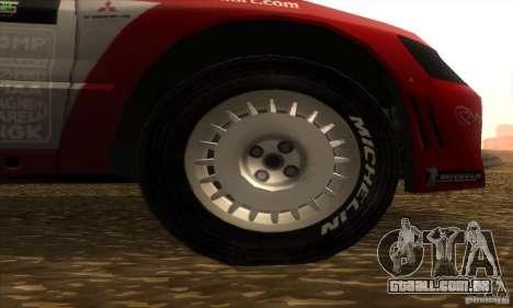 Mitsubishi Lancer Evolution VII para GTA San Andreas vista direita