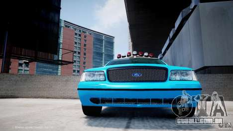 Ford Crown Victoria Classic Blue NYPD Scheme para GTA 4 vista superior