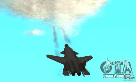 Su-47 berkut Defolt para GTA San Andreas vista traseira