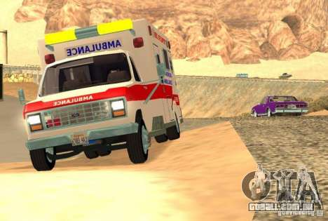 Ford Econoline Ambulance para GTA San Andreas esquerda vista