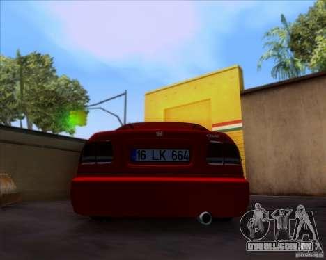 Honda Civic 16 LK 664 para GTA San Andreas vista traseira
