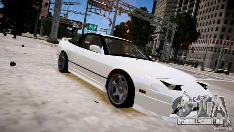 Nissan 240SX Drift para GTA 4 vista de volta