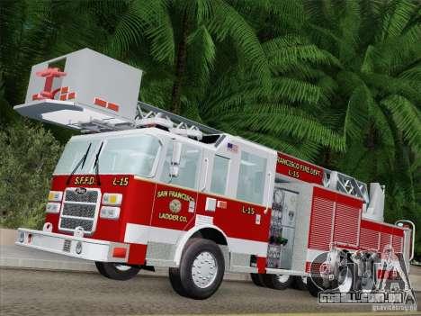 Pierce Aerials Platform. SFFD Ladder 15 para GTA San Andreas