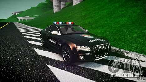 Audi S5 Hungarian Police Car black body para GTA 4
