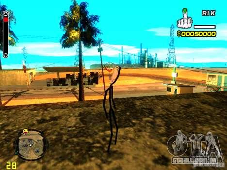 TrollFace skin para GTA San Andreas terceira tela
