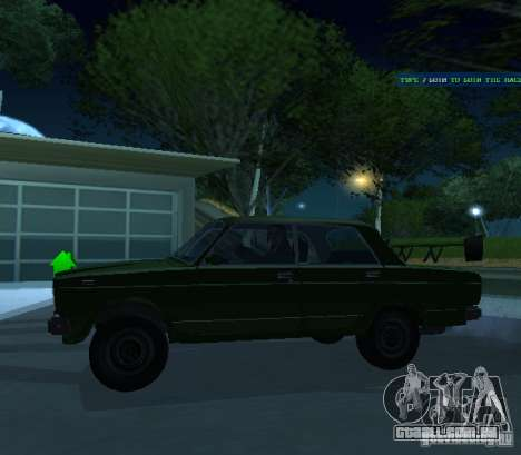 Vaz 2107 permite para GTA San Andreas traseira esquerda vista