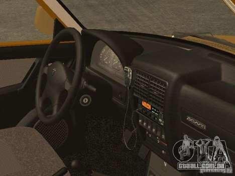 GAZ 3110 táxi para GTA San Andreas vista direita