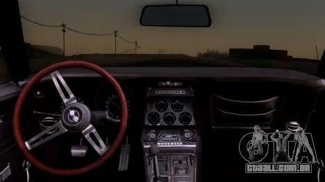 Chevrolet Corvette C3 Stingray T-Top 1969 v1.1 para GTA San Andreas vista direita