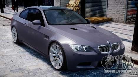 BMW M3 E92 stock para GTA 4 vista inferior