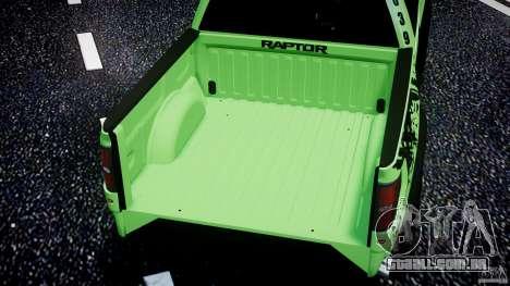 Ford F150 Racing Raptor XT 2011 para GTA 4 rodas