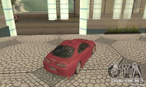 Toyota Supra Tunable 2 para GTA San Andreas traseira esquerda vista
