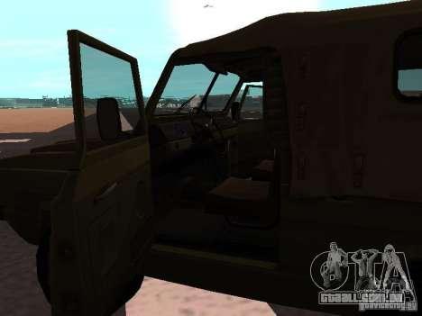 Jaguar UAZ-3907 para GTA San Andreas traseira esquerda vista