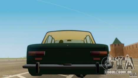 Baixo 2101 VAZ & Classic para GTA San Andreas traseira esquerda vista