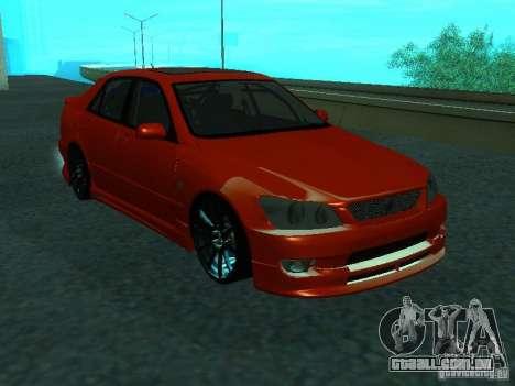 Toyota Altezza para GTA San Andreas vista direita