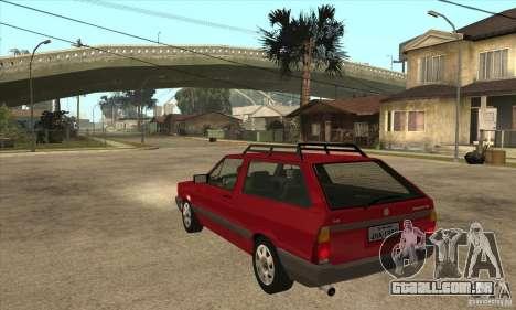 VW Parati GL 1994 para GTA San Andreas traseira esquerda vista