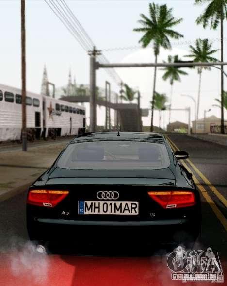 Audi A7 Sportback 2010 para GTA San Andreas vista direita