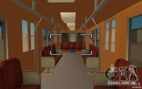 Metro type 81-717 para GTA San Andreas traseira esquerda vista