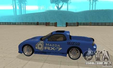 Mazda RX-7 Pickup para GTA San Andreas traseira esquerda vista