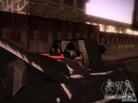 Ford Mustang Shelby GT500 para GTA San Andreas vista traseira