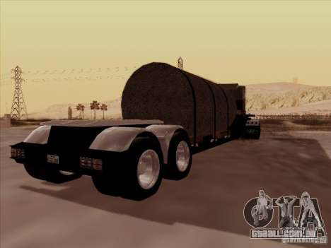 Reboque, Custom Peterbilt 378 para GTA San Andreas vista traseira