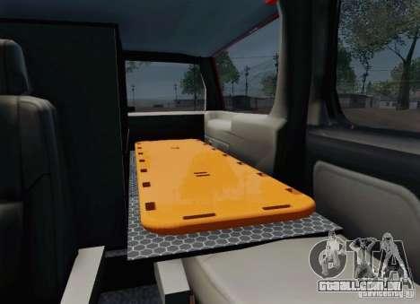 Chevrolet Suburban EMS Supervisor 862 para GTA San Andreas vista inferior