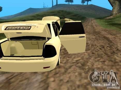 LADA Priora 2170 Limousine para GTA San Andreas vista interior