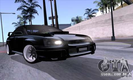 Subaru Impresa WRX light tuning para vista lateral GTA San Andreas