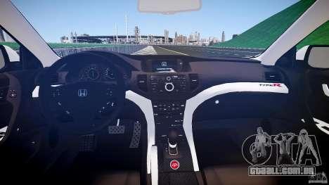 Honda Accord Type R NYPD (City Patrol 2322) ELS para GTA 4 vista superior
