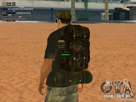 Military backpack para GTA San Andreas segunda tela