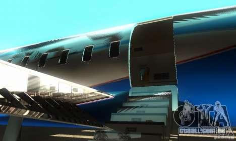 Blue Ghawar para GTA San Andreas traseira esquerda vista