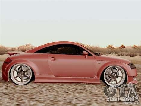 Audi TT para GTA San Andreas traseira esquerda vista