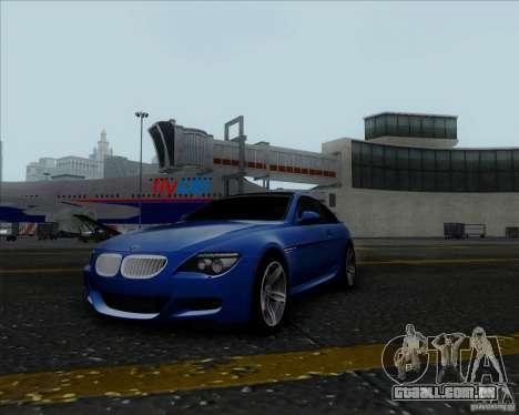 BMW 6 Series M para GTA San Andreas vista traseira