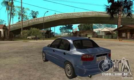Daewoo Lanos v2 para GTA San Andreas traseira esquerda vista