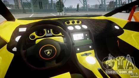 Lamborghini Gallardo Superleggera para GTA 4 vista de volta