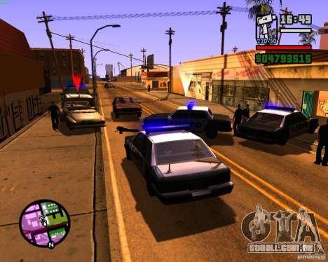Perseguindo máquinas para GTA San Andreas segunda tela