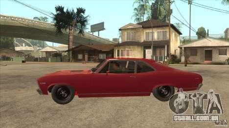 Chevrolet Nova SS para GTA San Andreas esquerda vista