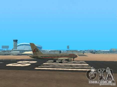 Boeing 757-200 American Airlines para GTA San Andreas vista direita