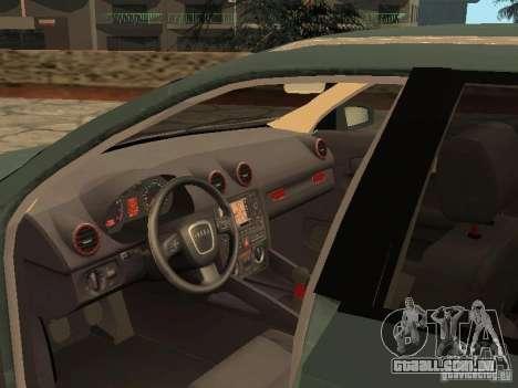 Audi S3 Sportback 2007 para GTA San Andreas vista traseira