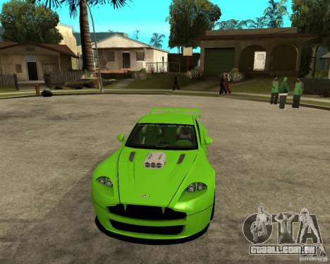 Aston Martin Vantage V8 - Green SHARK TUNING! para GTA San Andreas vista traseira