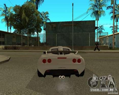 Lotus Exige para GTA San Andreas traseira esquerda vista