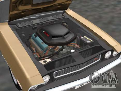 Dodge Challenger 440 Six Pack 1970 para GTA San Andreas vista traseira