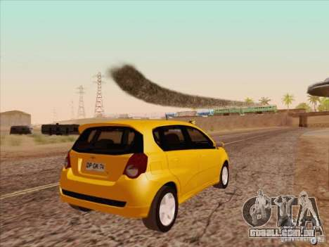 Chevrolet Aveo LT para GTA San Andreas vista direita